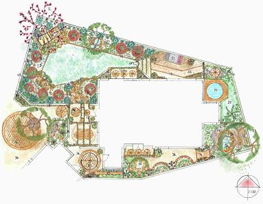 Free Garden Design Plans to transform your Garden on garden center, permaculture design maps, garden plan maps,