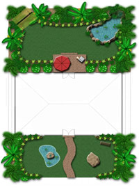 Tropical Garden Plan Detail