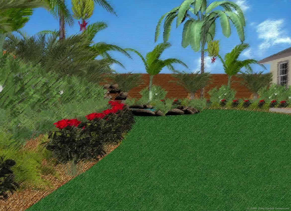 tropical garden artist impression - Garden Design Tropical