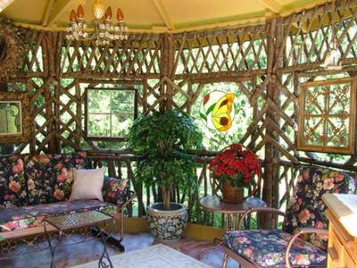 Bentwood Gazebo Interior